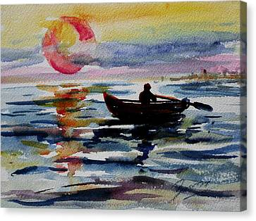 The Old Man And The Sea Canvas Print by Xueling Zou