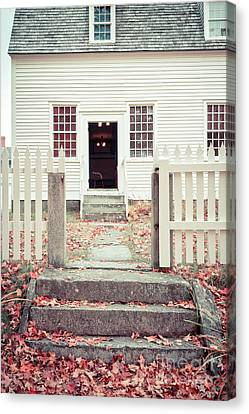 The Old Meeting House Canterbury Shaker Village Canvas Print by Edward Fielding