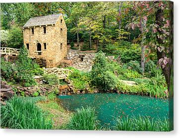 The Old Mill - North Little Rock - Pugh's Mill 1832 Canvas Print by Gregory Ballos