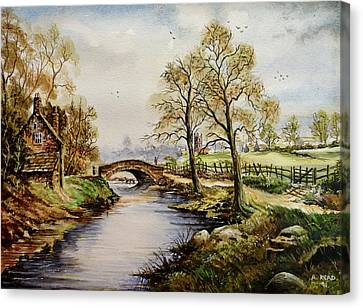 The Old Mill Path Canvas Print by Andrew Read