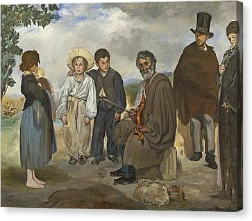 The Old Musician Canvas Print by Edouard Manet