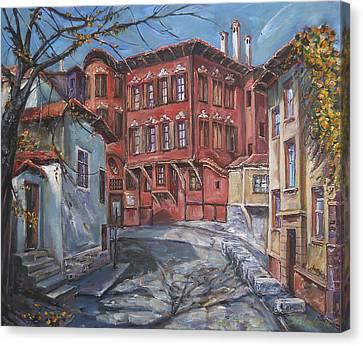 The Old Plovdiv - Autumn Sun Canvas Print by Stefano Popovski