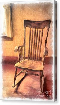The Old Rocker Canvas Print by Edward Fielding