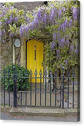 The Old School House Door Canvas Print by Gill Billington