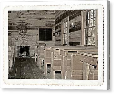 The Old Schoolhouse Canvas Print by Susan Leggett