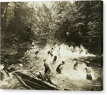The Old Swimming Hole Canvas Print by Underwood Archives