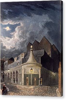 The Olympic Theatre, 1826 Canvas Print by Daniel Havell