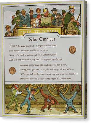 The Omnibus Canvas Print by British Library