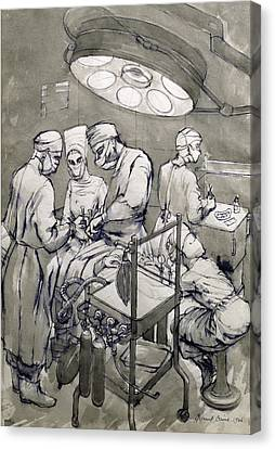 The Operation Theatre, 1966 Canvas Print by Osmund Caine
