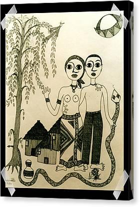 The Original Sin Canvas Print by Madalena Lobao-Tello