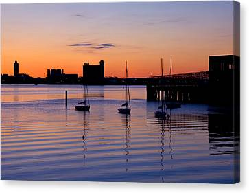 The Other Side Of The Harbor Canvas Print by Joann Vitali