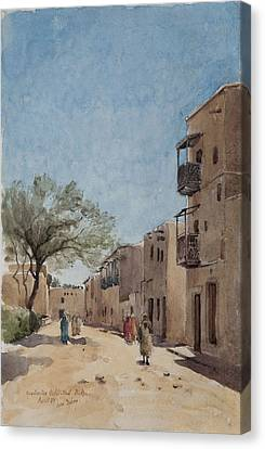 The Ouled Nail Quarter, Biskra, April 1889  Canvas Print by Henri Duhem