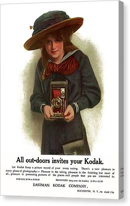 The Outdoor Girl. Circa 1911. Canvas Print by Unknown Artist