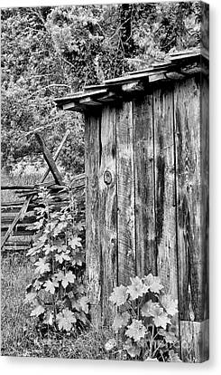 The Outhouse Canvas Print by Paul W Faust -  Impressions of Light