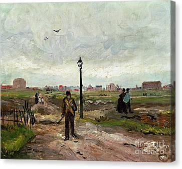 The Outskirts Of Paris Canvas Print by Vincent van Gogh