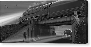 The Overpass 2 Panoramic Canvas Print by Mike McGlothlen