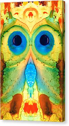 The Owl - Abstract Bird Art By Sharon Cummings Canvas Print by Sharon Cummings