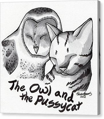 The Owl And The Pussycat Canvas Print by Kirsten Thomas