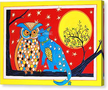 The Owl And The Pussycat Canvas Print by Renata Wright