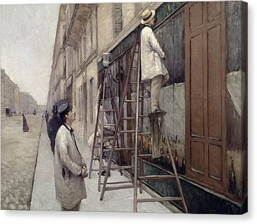 The Painters Canvas Print by Gustave Caillebotte