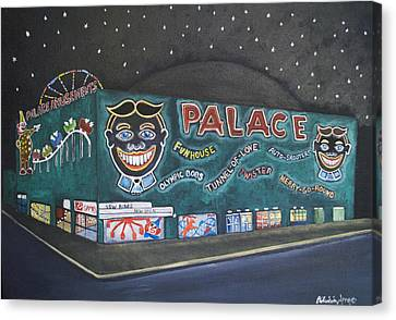 The Palace At Night Canvas Print by Patricia Arroyo
