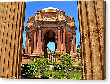 The Palace Of Fine Arts In The Marina District Of San Francisco Canvas Print by Jim Fitzpatrick