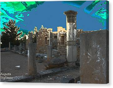 The Palaestra -temple Of Apollo Canvas Print by Augusta Stylianou