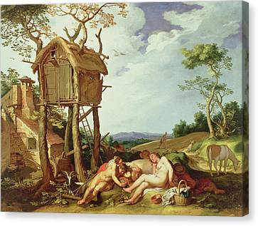 The Parable Of The Wheat And The Tares Canvas Print by Abraham Bloemaert