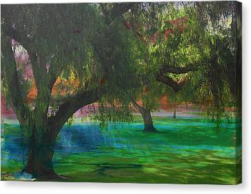 The Park Canvas Print by Athala Carole Bruckner