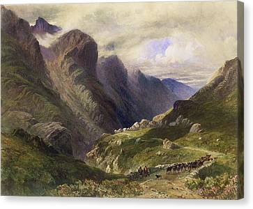 The Pass Of Glencoe, 1852 Canvas Print by William Bennett