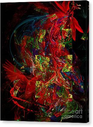 The Passion Canvas Print by Olga Hamilton