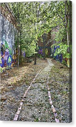 The Path Of Graffiti Canvas Print by Jason Politte