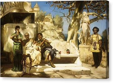 The Patrician's Siesta Canvas Print by Hendrik Siemiradzki