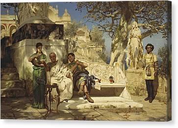 The Patricians Siesta Canvas Print by Henryk Hektor Siemiradzki