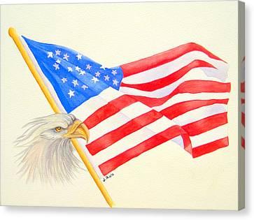 The Patriot Canvas Print by Julia Rietz