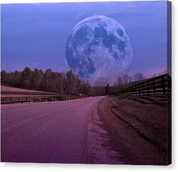The Peace Moon  Canvas Print by Betsy Knapp