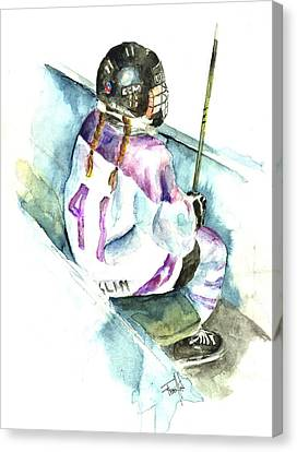 The Penalty Box Canvas Print by Leslie Franklin