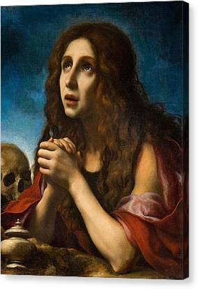 The Penitent Magdalen Canvas Print by Carlo Dolci