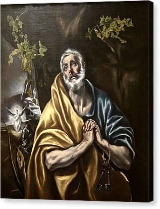The Penitent Saint Peter Canvas Print by Celestial Images