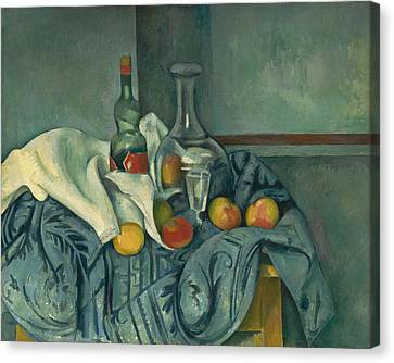 The Peppermint Bottle Canvas Print by Paul Cezanne