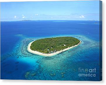 The Perfect Island Canvas Print by Lars Ruecker