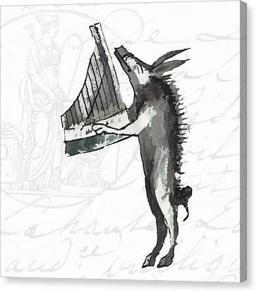 The Phantasmagorical Farmyard Boar Canvas Print by Kandy Hurley
