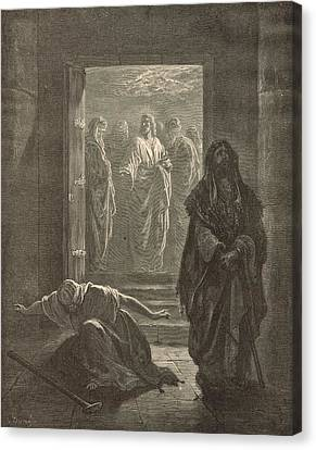 The Pharisee And The Publican Canvas Print by Antique Engravings