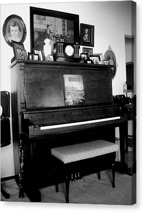 The Piano And Clarinet  Canvas Print by Peggy Leyva Conley