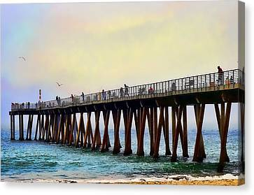 The Pier Canvas Print by Camille Lopez
