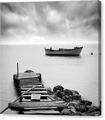 The Pier Canvas Print by Taylan Soyturk