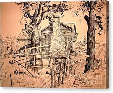 The Pig Sty Canvas Print by Kip DeVore