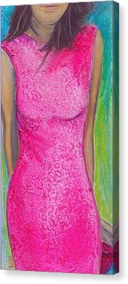 The Pink Dress Canvas Print by Debi Starr