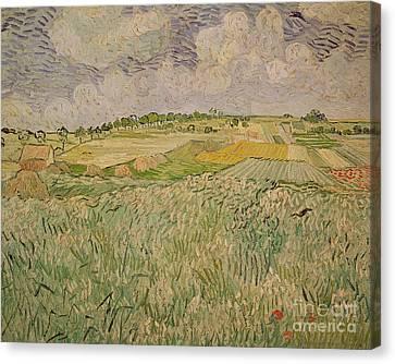 The Plain At Auvers Canvas Print by Vincent Van Gogh