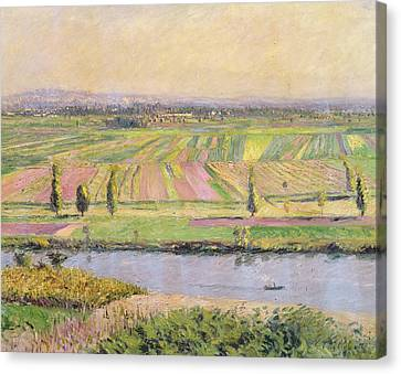 The Plain Of Gennevilliers From The Hills Of Argenteuil Canvas Print by Gustave Caillebotte